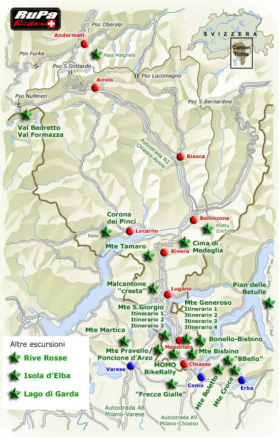 Cartina Ticino Svizzera.Rupa Biker Mountainbiking A 360 Escursioni In Ticino E Non